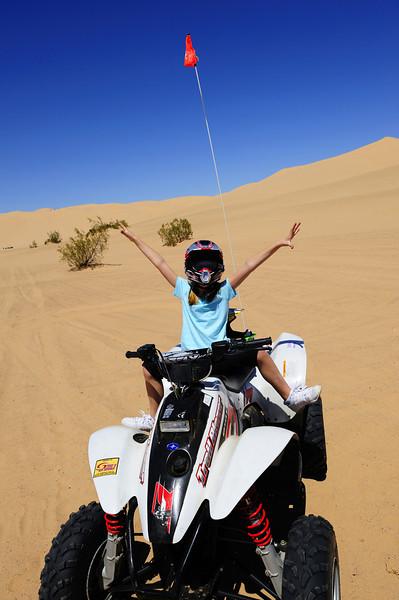 Goofing off in the California desert.