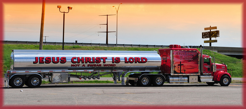 The Jesus Christ is Lord Truck Stop in Amarillo, Texas.