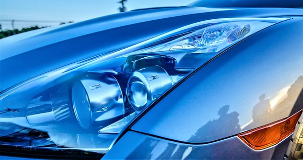 modern race car headlight