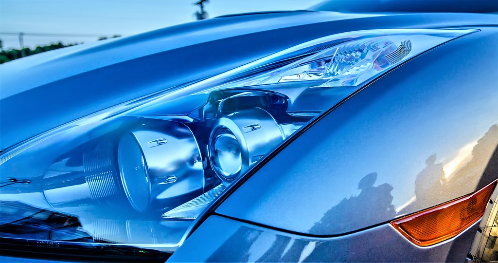 modern race car headlight
