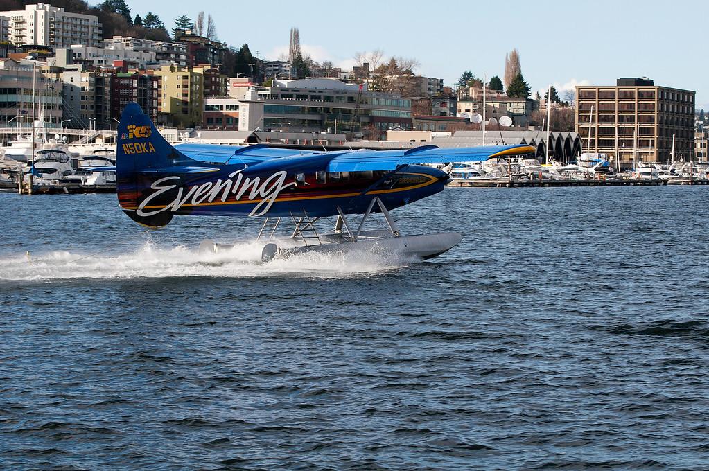 CAPTION: KING 5 TV Evening Magazine Seaplane<br /> LOCATION: Lake Union Park, Seattle, Washington State<br /> DATE: 2-26-12<br /> NOTES:<br /> HEADING: