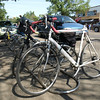On-street bike parking corrals in Old Strathcona<br /> August 2012