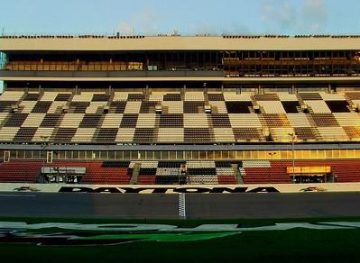 Daytona speedway at sunrise.   Get notifications via: