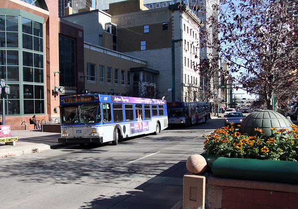 Bus on Jasper Avenue