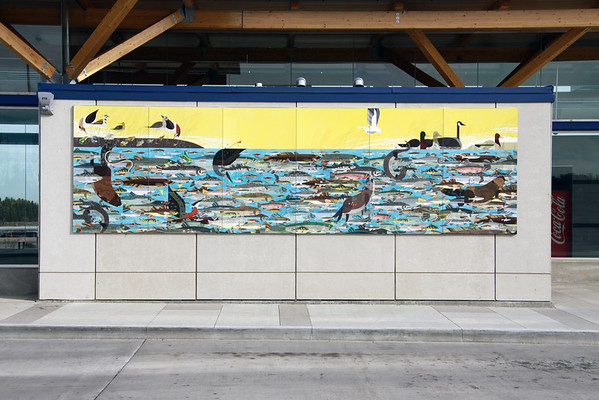 Lewis Farms Bus Depot Mural