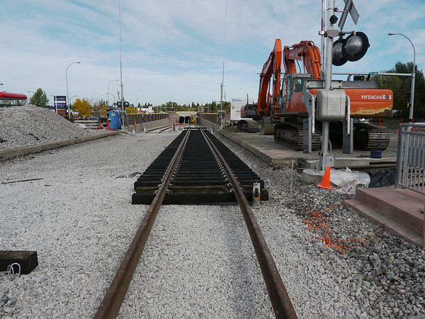 Final South LRT track installation