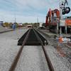 Final South LRT track installation