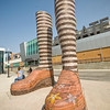 "The art piece ""Immense Mode' stands tall at Southgate Station"