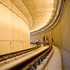 Inside a segment of the South LRT tunnel