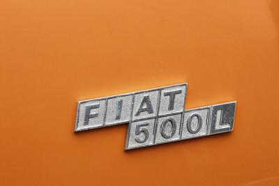 Italy, Verona, Fiat 500 Badge Italy, Verona