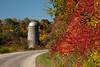 Silo and Sumac, Autumn Road Scene, Sauk County, Wisconsin