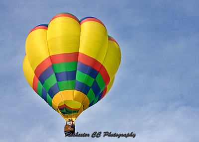 Hot air balloons over Letchworth State Park in NY.