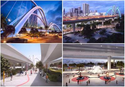 Rendering of the signature bridge design for I-395 | Renderings courtesy of Archer Western – De Moya