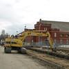 Excavator on 104 Street