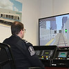 ETS inspector practices using the new signalling system.