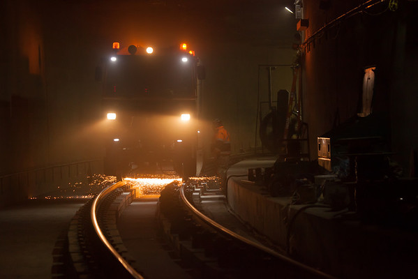 Rail Grinding in tunnel