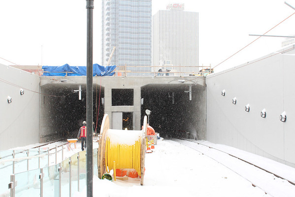 Metro Line Tunnel Entrance at MacEwan Station