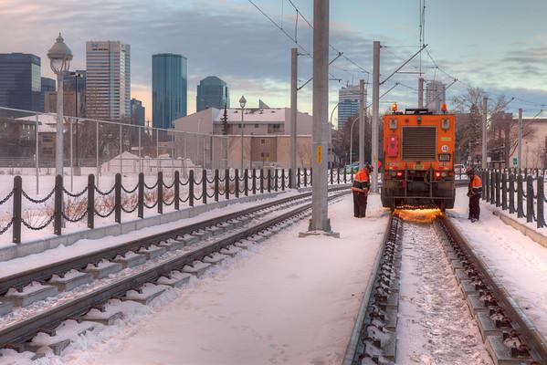 104 Street Rail Grinding