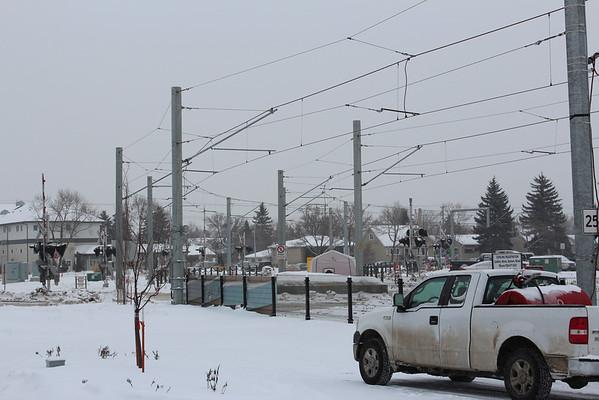 Rail crossing near NAIT