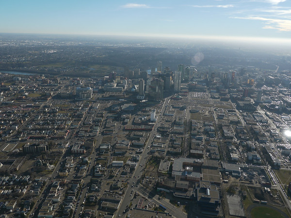 Aerial Shots of North to NAIT LRT Route - 101 Street/ Kingsway Avenue