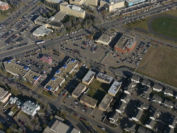 Aerial Shots of North to NAIT LRT Route - Kingsway Avenue/ 104 Street Crossing