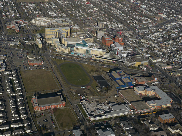 Aerial Shots of North to NAIT LRT Route - 104 Street - Royal Alexandra Hospital