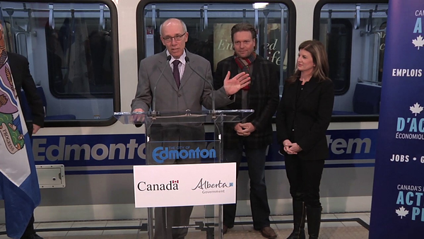Edmonton Mayor Stephen Mandel<br /> <br /> North LRT Tunnel Breakthrough Event, November 16, 2012