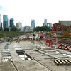 Kingsway area progress<br /> <br /> Track slabs down 104 St.