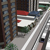 Quarters LRT Route Computer Rendering