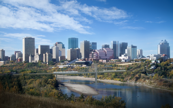 Edmonton's postcard cityview, starring the new extradosed river bridge. The bridge was chosen by the public, via an extensive public consultation process, from an original six shortlisted candidates. The extradosed design was the ultimate choice, representing a signature bridge that complemented, rather than overshadowed the River Valley.