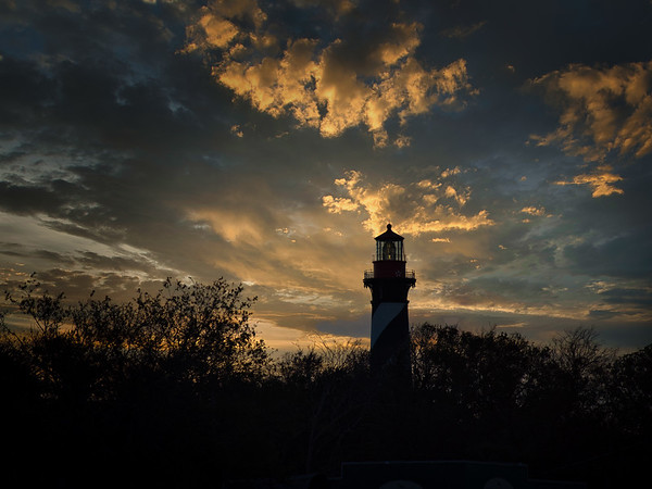 St. Augustine Lighthouse Before Sunrise