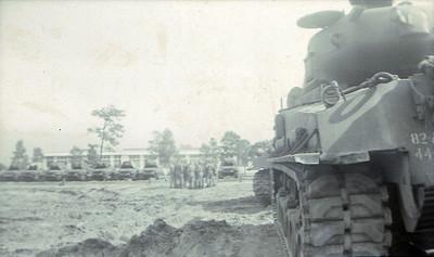 M4A3E8 Sherman Tank with the 78mm gun, Fort Bragg, North Carolina, USA.  © Robert D. Martin (Circa 1953)