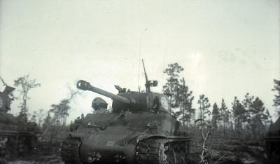 M4A3E8 Sherman Tank with the 78mm gun, near Fort Bragg, North Carolina, USA.  © Robert D. Martin (Circa 1953)