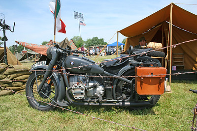German WWII military motorcycle