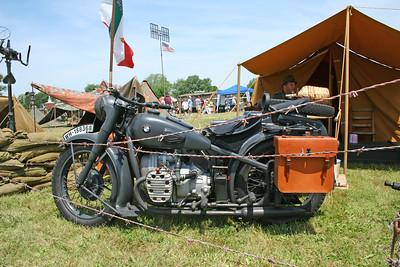 German WWII military motorcycle