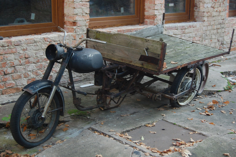 Old German Motorcycle in Poland