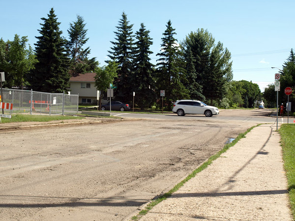 Before - 87 Avenue & 118 Street, facing south