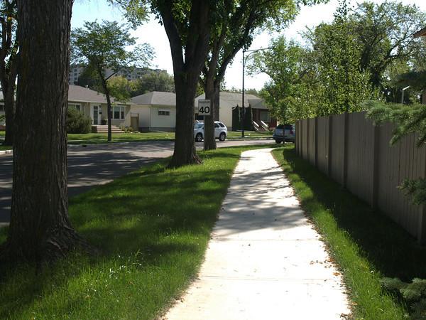After - Woodcroft Avenue & 137 Street, facing southwest