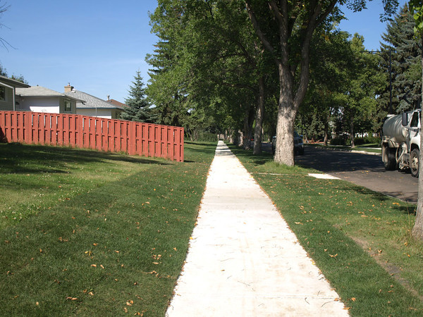 After - Northwest sidewalk on Woodcroft Avenue & 136 Street