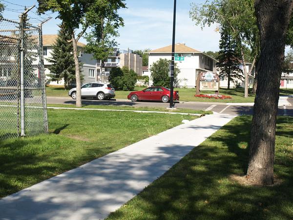 After - New sidewalk near 114 Avenue & 135 Street