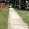 Before - Northwest sidewalk on Woodcroft Avenue & 136 Street