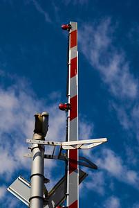 CAPTION: Railroad Crossing Guard LOCATION: Boulevard Park, Bellingham, Washington DATE: 8-12-10 NOTES: I photographed the railroad crossing guard up HEADING: