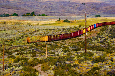 CAPTION: Train Cars LOCATION:  Highway 70, California DATE: 9-24-06 NOTES:  HEADING: