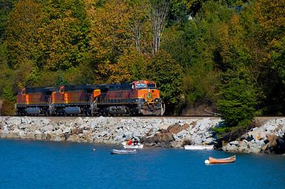 CAPTION:CAPTION: Train Engines LOCATION: Boulevard Park, Bellingham, Washington DATE: 9-28-10 NOTES: HEADING:
