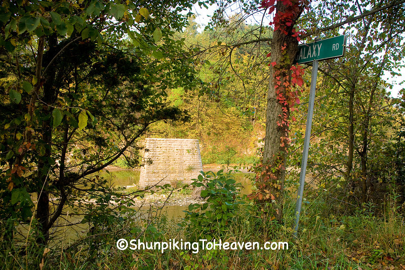 """The Road Not Taken"", Washed Away Bridge on the Turkey River, Clayton County, Iowa"
