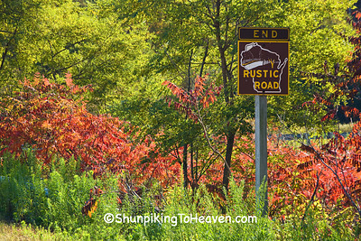 End of Rustic Road #56 Sign, Vernon County, Wisconsin