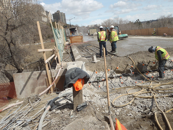 Construction on Rossdale Road