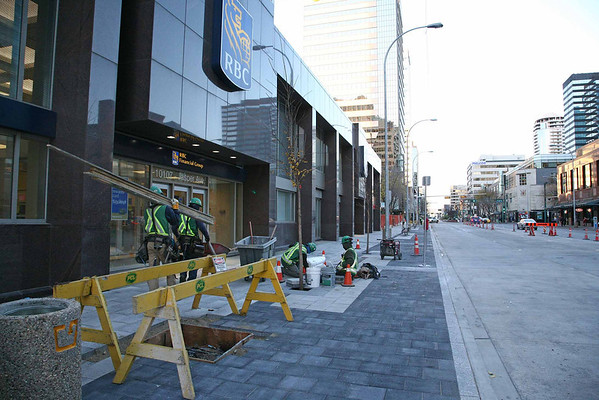 Jasper Avenue construction