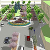 Artist rendering of Dwyer Square.