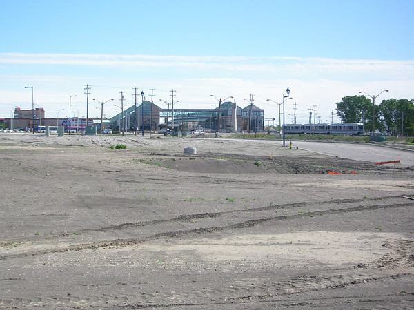 Belvedere LRT Station site (June 2010)
